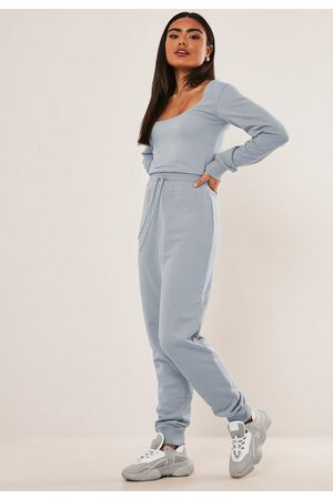 Missguided Tall Scoop Neck Jogger Romper