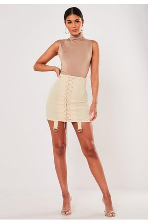 Missguided Lace Up Strap Detail Mini Skirt