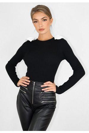 Missguided Double Cotton Bow Bodysuit
