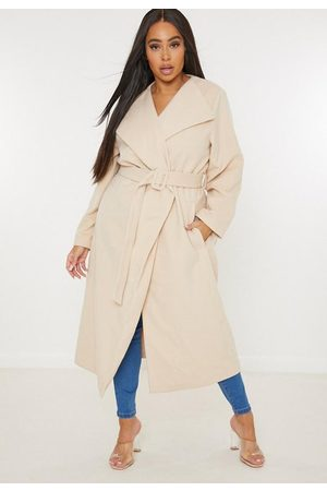 Missguided Plus Size Covered Buckle Belted Formal Coat