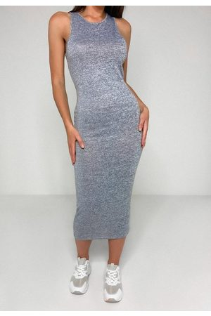 Missguided Gray Racer Midaxi Dress