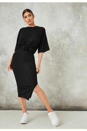 Missguided Co Ord Rib Midi Skirt