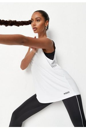 Missguided Msgd Ruched Back Gym Tank Top
