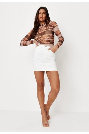Missguided Women Mini Skirts - Super Stretch Denim Mini Skirt