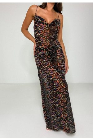 Missguided Leopard Print Sheer Beach Cover Up Maxi Dress