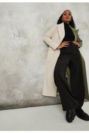 Missguided Khaki Spliced Formal Coat