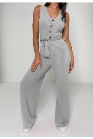 Missguided Rib Horn Button Romper