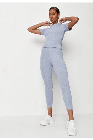 Missguided Women Leggings - Co Ord Textured Knit Leggings