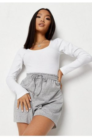 Missguided Rib Scoop Neck Bodysuit