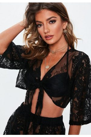 Missguided Premium Lace Co Ord Beach Top