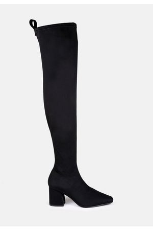 Missguided Mid Heel Over The Knee Boots