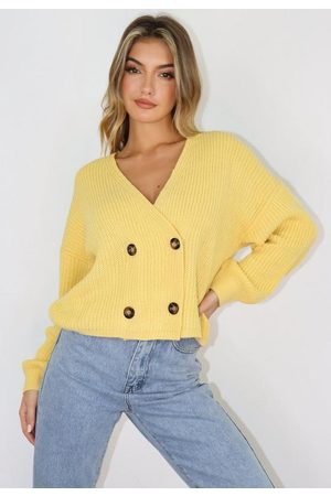 Missguided Women Cardigans - Double Breasted Knit Cardigan