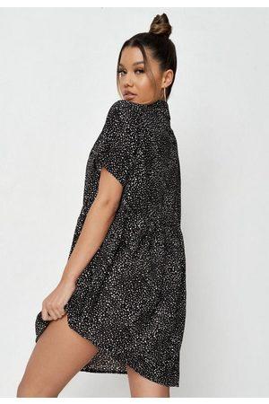 Missguided Women Printed Dresses - Tall Dalmatian Print Smock Dress