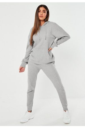 Missguided Gray Waffle Texture Oversized Loungewear Set