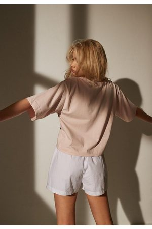 Missguided Re_Styld High Neck Oversized Cropped T Shirt