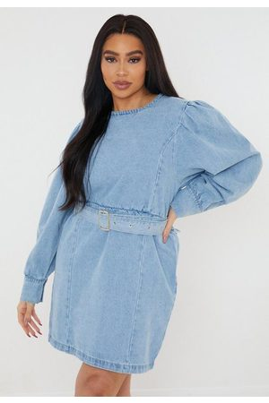 Missguided Plus Size Belted Denim Dress