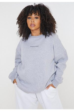 Missguided Plus Size Gray Sweatshirt
