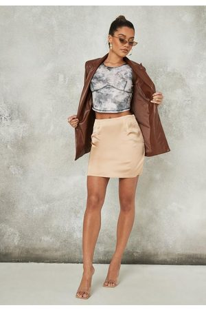 Missguided Satin Mini Skirt