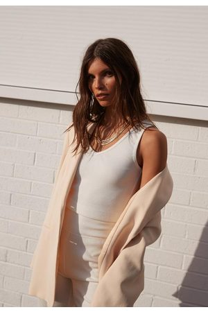 Missguided Re_Styld Rib Plunge Tank Top
