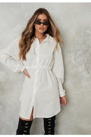 Missguided Oversized Elasticated Waist Shirt Dress