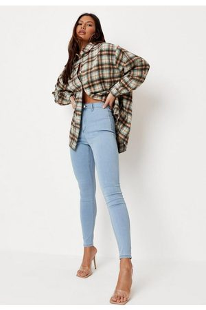Missguided Women Skinny - Recycled Light Wash Skinny Jeans
