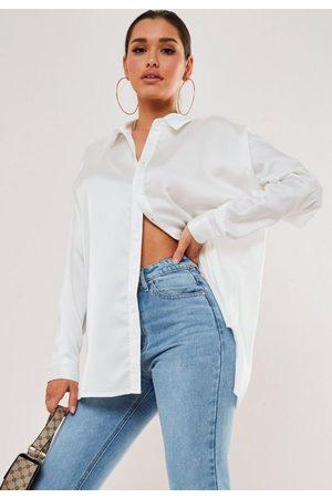 Missguided Extreme Oversized Satin Shirt