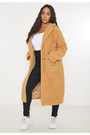 Missguided Plus Size Borg Teddy Long Oversized Coat