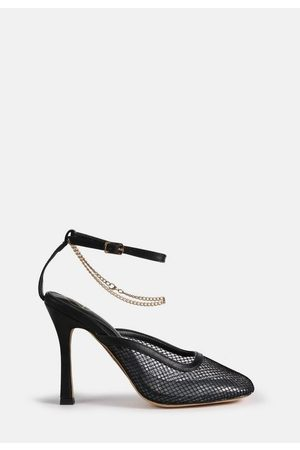 Missguided Square Toe Fishnet Heels