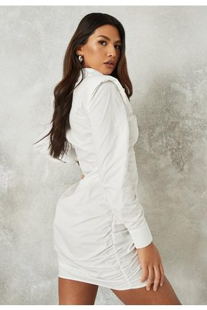 Missguided Women Casual Dresses - Poplin Lip Shoulder Utility Shirt Dress