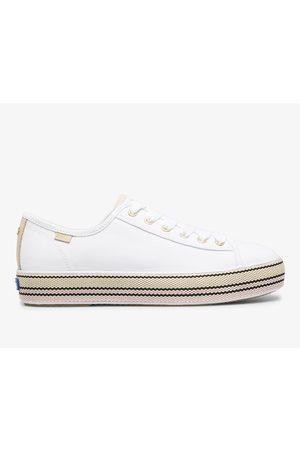 Keds X kate spade new york Triple Kick Woven Stripe Foxing , Size 7m Women's Shoes