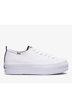 Keds Women Platform Sneakers - Triple Up Feat. Organic Cotton , Size 6m Women's Shoes