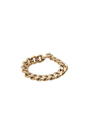 LOREN STEWART Women Rings - XL Havana Chain Ring in Metallic