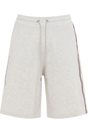 Moncler Cotton French Terry Shorts W/ Side Bands