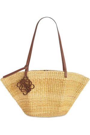 Loewe Women Shoulder Bags - Straw Small Shell Basket Bag