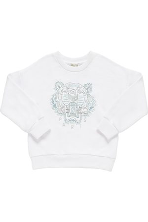 Kenzo Tiger Embroidery Cotton Blend Sweatshirt