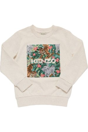 Kenzo Girls Sweatshirts - Printed Cotton Sweatshirt