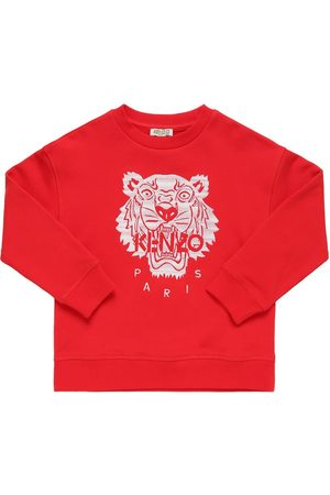 Kenzo Tiger Embroidery Cotton Sweatshirt