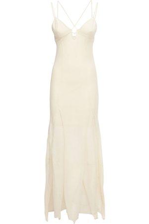 Jacquemus Women Knitted Dresses - La Robe Cotton Blend Knit Long Dress