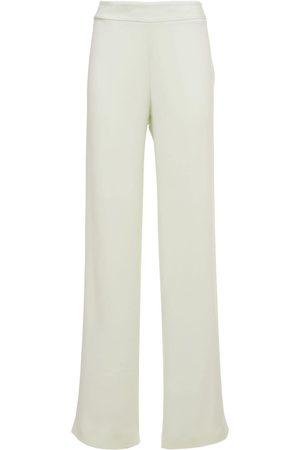 Jil Sander Women Stretch Pants - Viscose & Silk Cady Stretch Pants