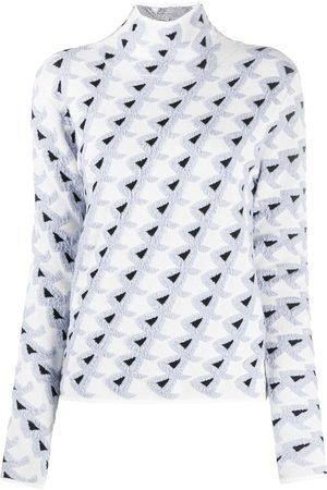 CHRISTIAN WIJNANTS Women Sweaters - Embroidered triangle funnel neck jumper