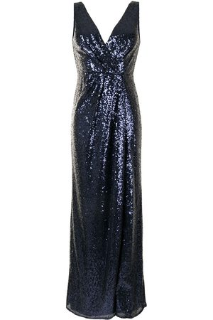 Marchesa Notte Sequin-embellished V-neck bridesmaids dress