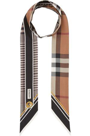 Burberry Scarves - Vintage Check foulard scarf - Neutrals