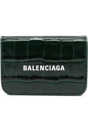 Balenciaga Mini Cash croc-effect wallet
