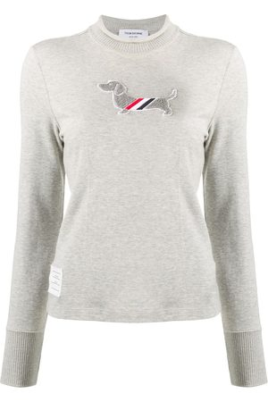 Thom Browne Hector Icon long-sleeve T-shirt - Grey