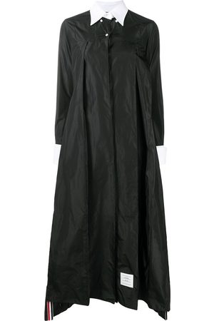 Thom Browne Contrasting-collar pleated shirt dress