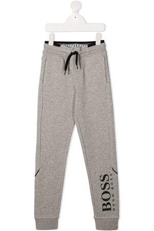 HUGO BOSS Logo print track pants - Grey