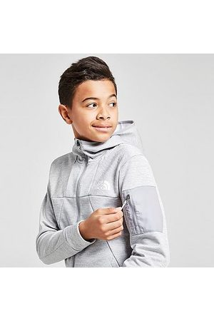 The North Face Boys Hoodies - Boys' Mittileghi Full-Zip Hoodie in Grey/Light Heather Grey Size Small Fleece/Knit