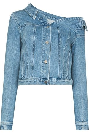 RTA Rebecca one-shoulder denim jacket