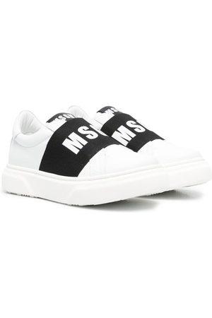 Msgm Logo-print slip-on sneakers