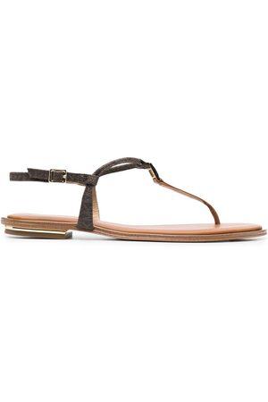 Michael Kors Fanning glittered sandals